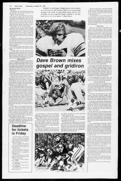 Daily Trojan, Vol. 65, No. 25, October 25, 1972