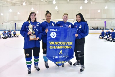 2018-03-06 Churchill Bulldogs girls hockey team wins championships