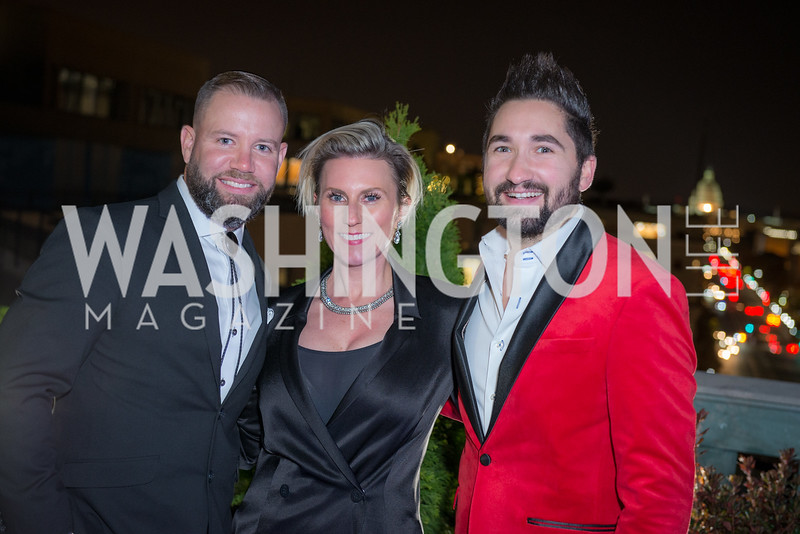 Lucas McCurdy, Sevy Petras, Jason Zuccari, Capitol Seniors Housing, 15th Anniversary Party.  November 8, 2018. Photo by Ben Droz.