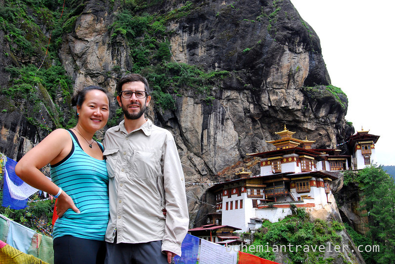 Stephen and Juno at Tigers Nest Monastery.jpg