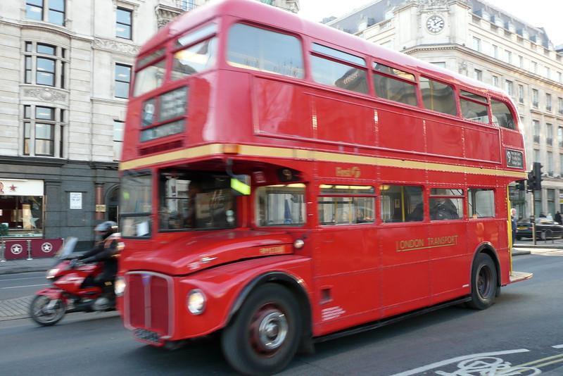 Double-Decker Bus. Trafalgar Square, London