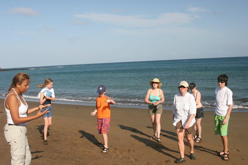 2007-02-20-0011-Galapagos with Hahns-Day 4, Floreana-Jessica-Elaine-Jeremy-Debby-ElaineH-Evan.JPG