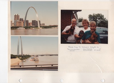 7-28-1993 Phil Eoll & Family on truck trip to Detroit, MI