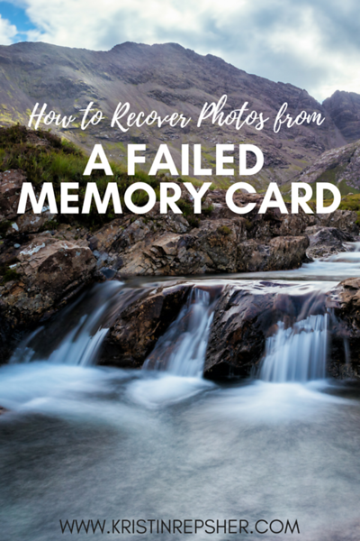 How to Recover Photos from a Failed Memory Card