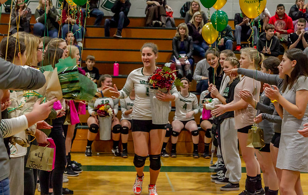 Vashon Island High School Volleyball Seniors Night Fall 2018