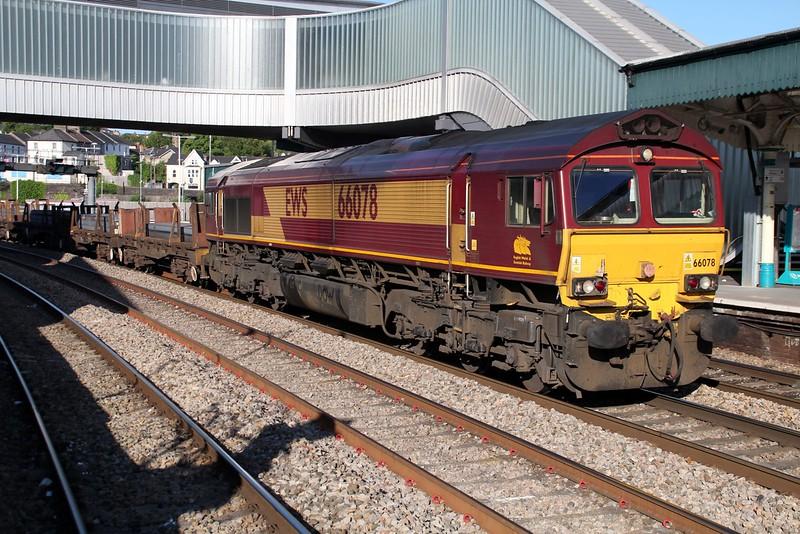 66078 0725/6H23 Margam-Llanwern passes Newport    13/06/14
