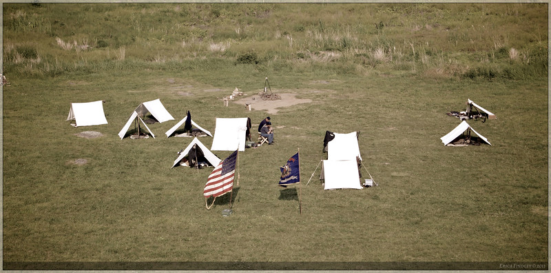 A soldiers' camp near the Pennsylvania Monument.