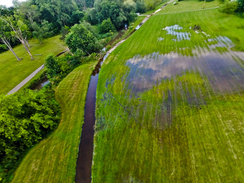 Summer Sunset at the Park 2 : Aerial Photography from Project Aerospace