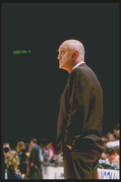 . Head coach Jerry Tarkanian of the UNLV Rebels, Mar 1987. Credit: Rick Stewart  /Allsport