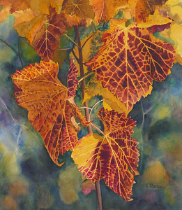 """""""After the Wine Harvest"""" (watercolor) by Elizabeth Burin"""
