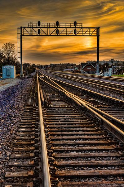 Prairie Path & Railroad Tracks