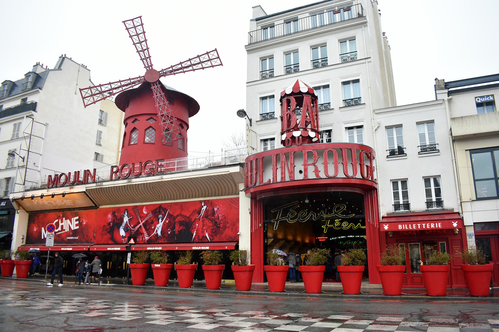 Moulin Rouge Theatre  in Paris, France