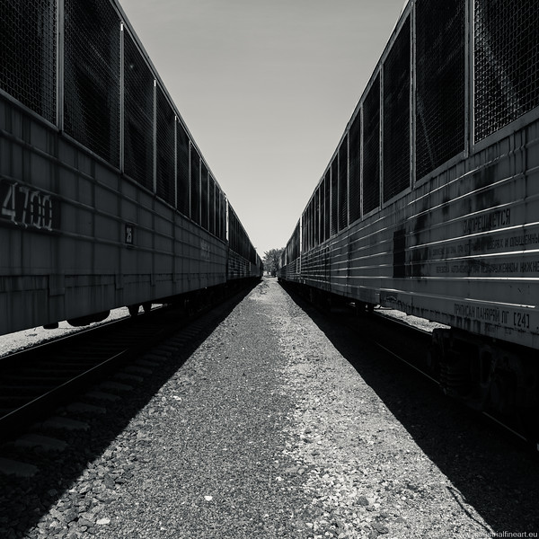 Abstract train yard