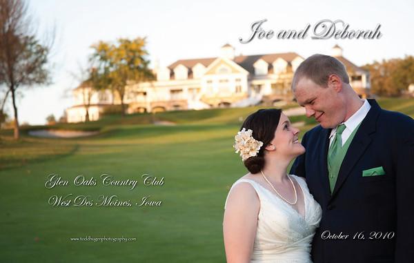 Joe and Deb Bridal Album Cover Proofs