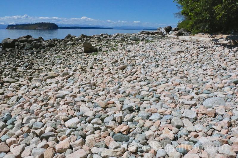 Savary Island from Dinner Rock Rec Site