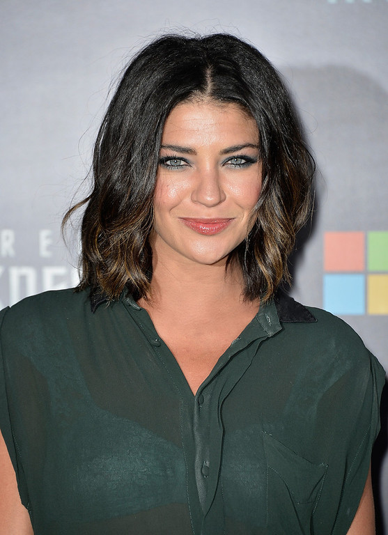 """. Actress Jessica Szohr arrives at the premiere of Paramount Pictures\' \""""Star Trek Into Darkness\"""" at Dolby Theatre on May 14, 2013 in Hollywood, California.  (Photo by Frazer Harrison/Getty Images)"""