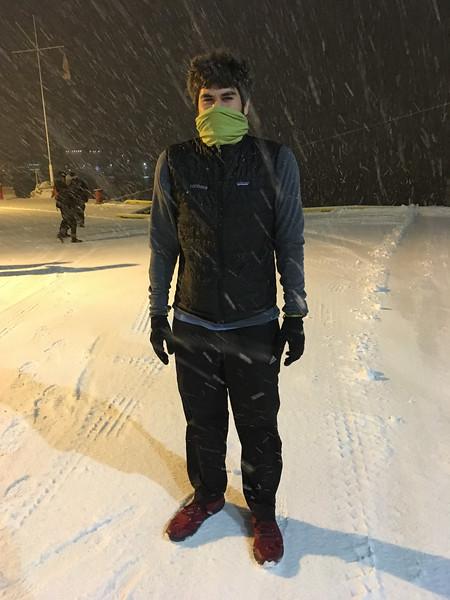 Grahams snow storm running kit