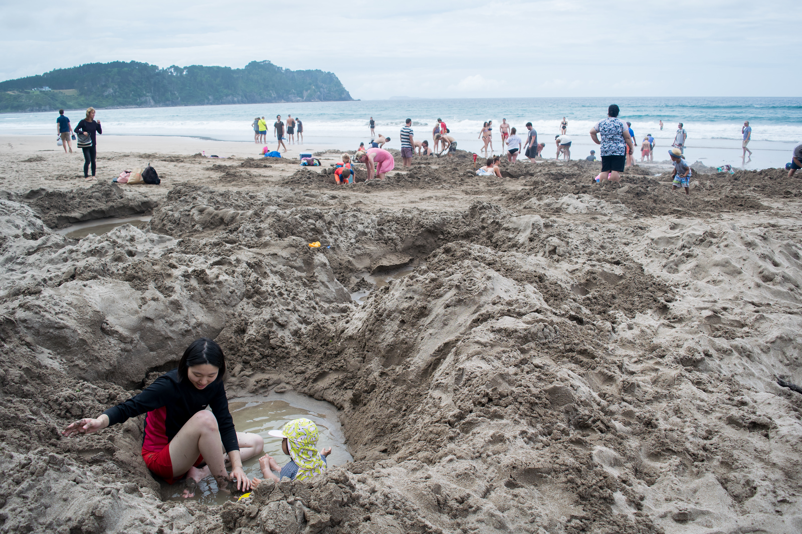 Do you know why people dig on this beach? Hint: Hot Water Beach, NZ