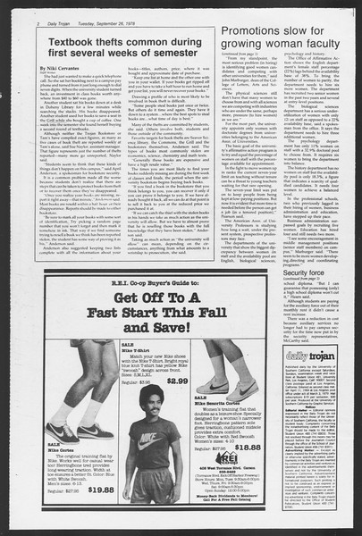 Daily Trojan, Vol. 75, No. 6, September 26, 1978