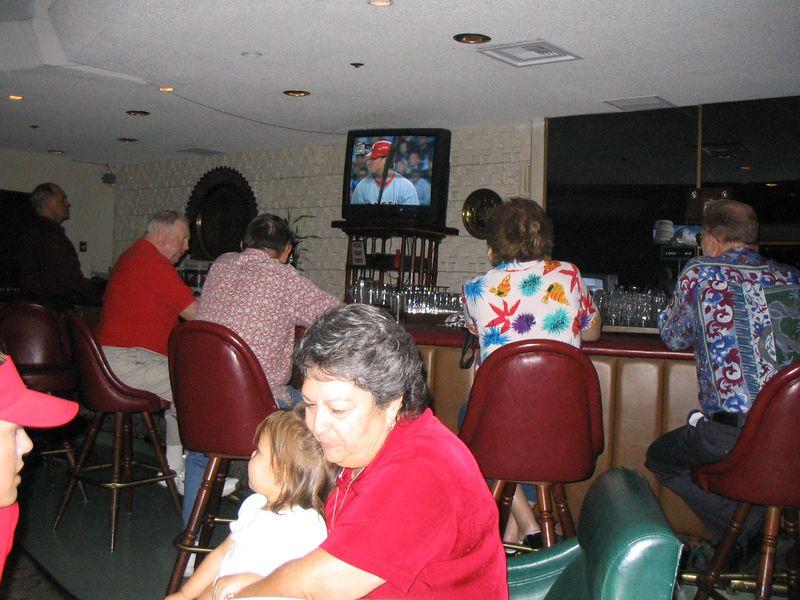 10/07 - Elks enjoying the Angels vs. Yankees playoffs series