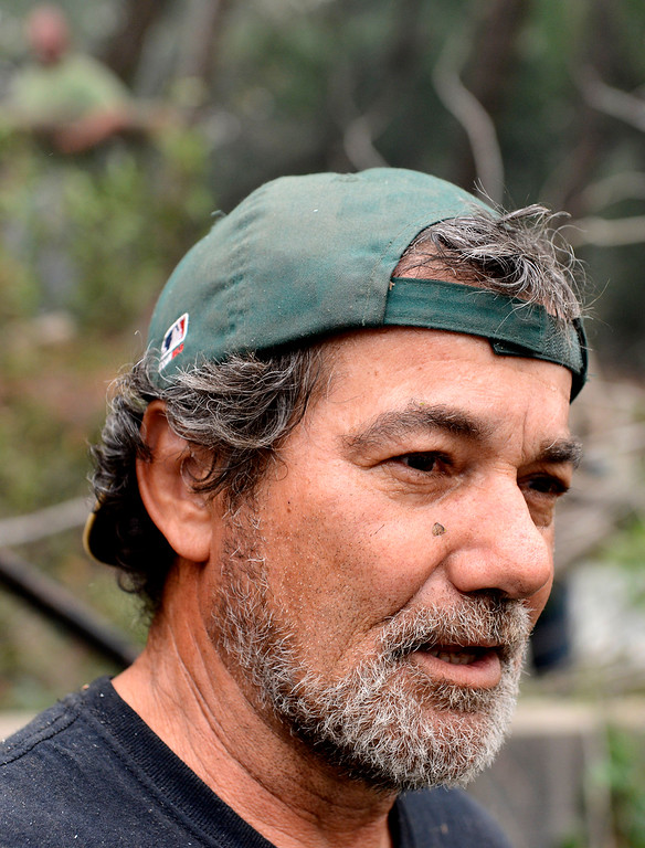 . Mario Busch speaks about losing his home in the fire in the Pfeiffer Ridge area in Big Sur, Calif. on Tuesday December 17, 2013. (Photo David Royal/ Monterey County Herald)