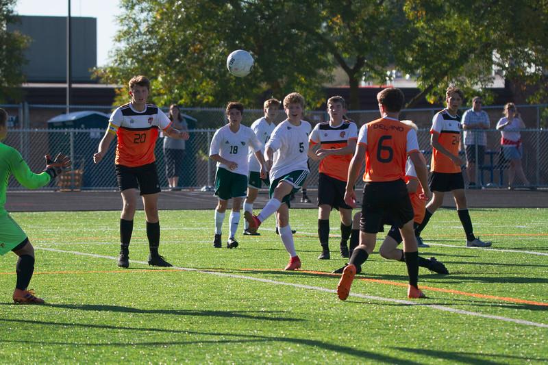 Holy Family Varsity Soccer vs. Delano, 9/19/19: Ryder Ferguson '22 (5)