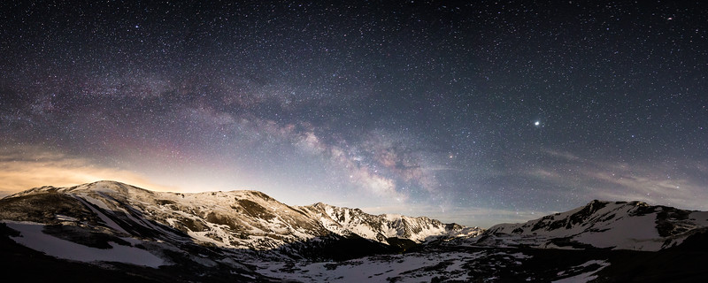 Loveland Pass and the milky way