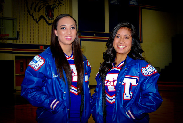 Kayla & Jasmine THS Cheer Photo Shoot