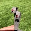 .79ctw Oval Padparadscha Sapphire Bezel Stud Earrings 15