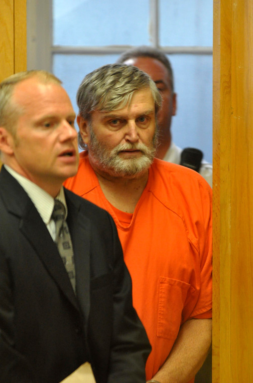 . David Casey is arraigned in Berkshire District Court in Pittsfield on charges to being an accessory after the fact in the recent triple murders.  Mon Sept 18, 2011 (GARVER)