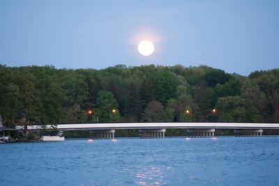 Moon & Sun Over The Lake