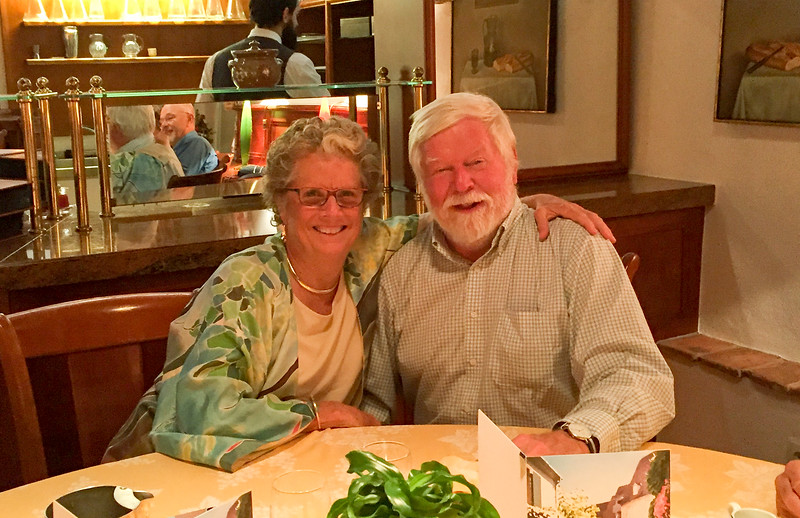 Didi & Don at the farewell dinner.