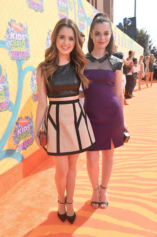 . Actresses Laura Marano (L) and Vanessa Marano attend Nickelodeon\'s 27th Annual Kids\' Choice Awards held at USC Galen Center on March 29, 2014 in Los Angeles, California.  (Photo by Alberto E. Rodriguez/Getty Images)
