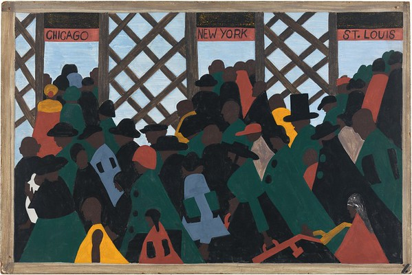 "Jacob Lawrence, ""The Migration of the Negro No. 1,"" 1941"