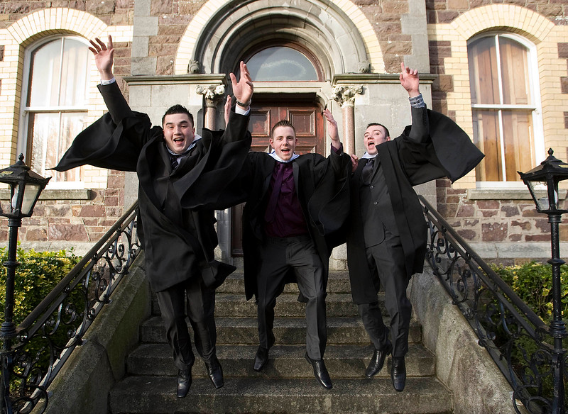 5/1/2012. News. Free to use image. Waterford Institute of Technology (WIT) conferring. Pictured are Derek Deegan, Kilkenny, Philip Murphy, Kilkenny and Colin Donoghue, Kildare who graduated with a Bachelor of Engineering in Manufacturing Engineering. Photo Patrick Browne