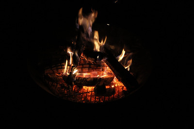 Spring Night at Fire Pit