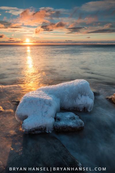 Ice Island at Sunrise
