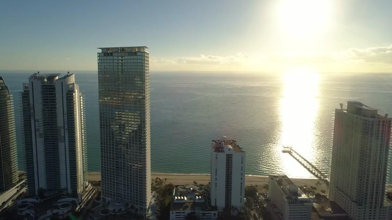 Luxury skyscraper condominiums Sunny Isles Beach Florida