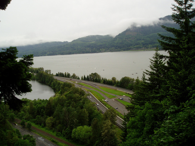 The Columbia River flows into the Pacific Ocean.