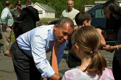 Governor Patrick visits Willard Rd. 7/26/2011