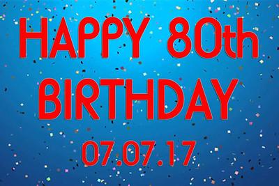 2017-06-24 Happy 80th Birthday