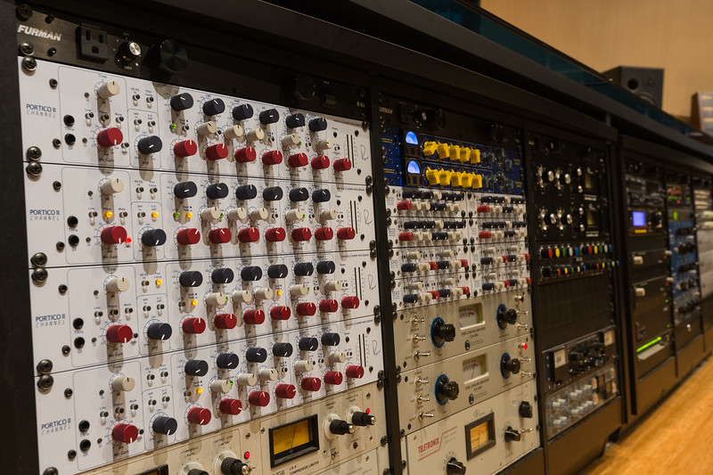 Ful Sail University Audio Temple outboard gear featuring Rupert Neve Design components.