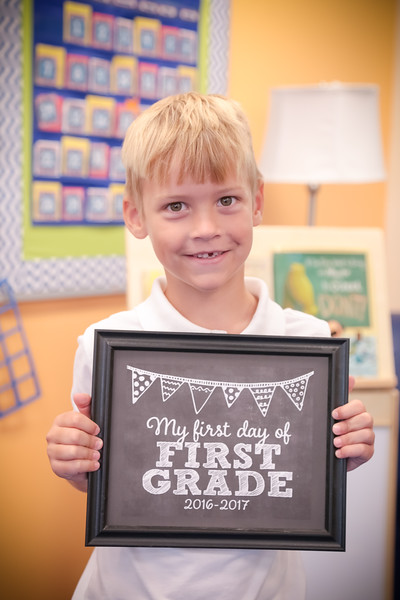 First Day of First Grade 2016-2017