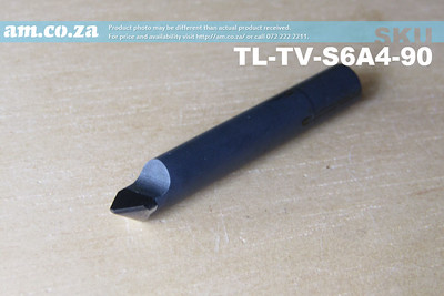 TL-TV-S6A4-90, 5 Pieces of 6mm 90° V-Profile Tungsten Carbide Stone Carving Router Bit with 0.4mm Tip, Full Length ⩾40mm