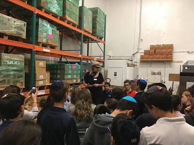 7th Grade visit the Food Bank