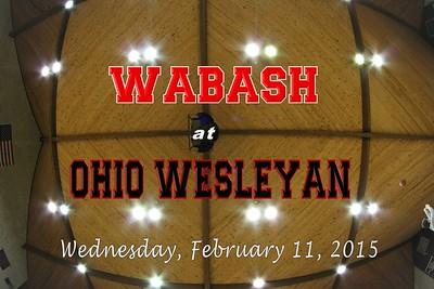 2014 Wabash at Ohio Wesleyan (02-11-15)
