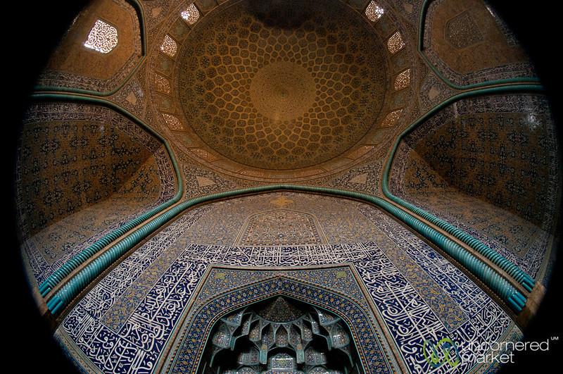 Fisheye Inside Sheikh Lotf Allah Mosque - Esfahan, Iran