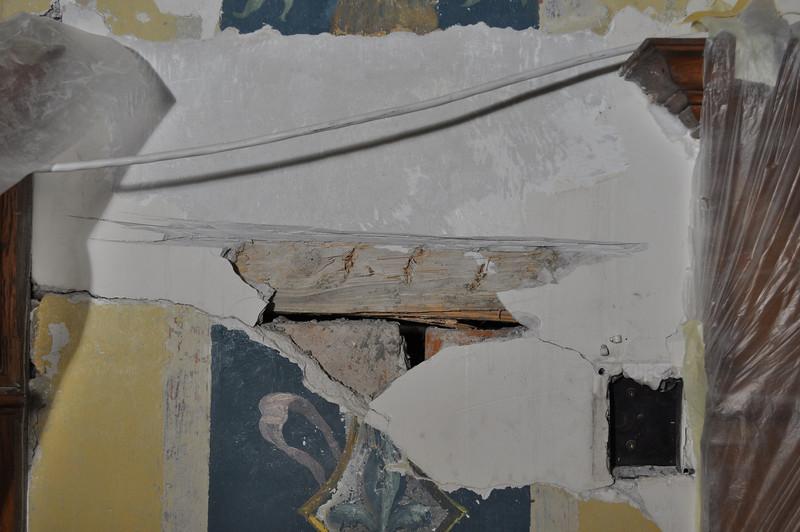 Abnahme der Gips-Einputzung, Wandbereich insgesamt beweglich DSC_0343