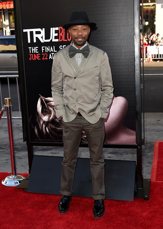 """. Actor Nelsan Ellis attends the premiere of HBO\'s \""""True Blood\"""" season 7 and final season at TCL Chinese Theatre on June 17, 2014 in Hollywood, California.  (Photo by Jason Merritt/Getty Images)"""