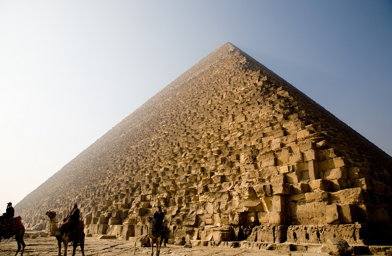 The great pyramid as it has looked for 4,000 years.